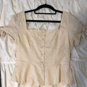 Urban outfitters babydoll cream shirt